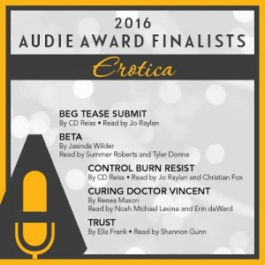 Audie award badge 2016 erotica